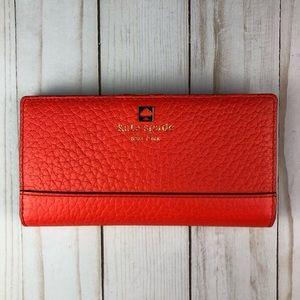 Kate Spade Stacy wallet orange